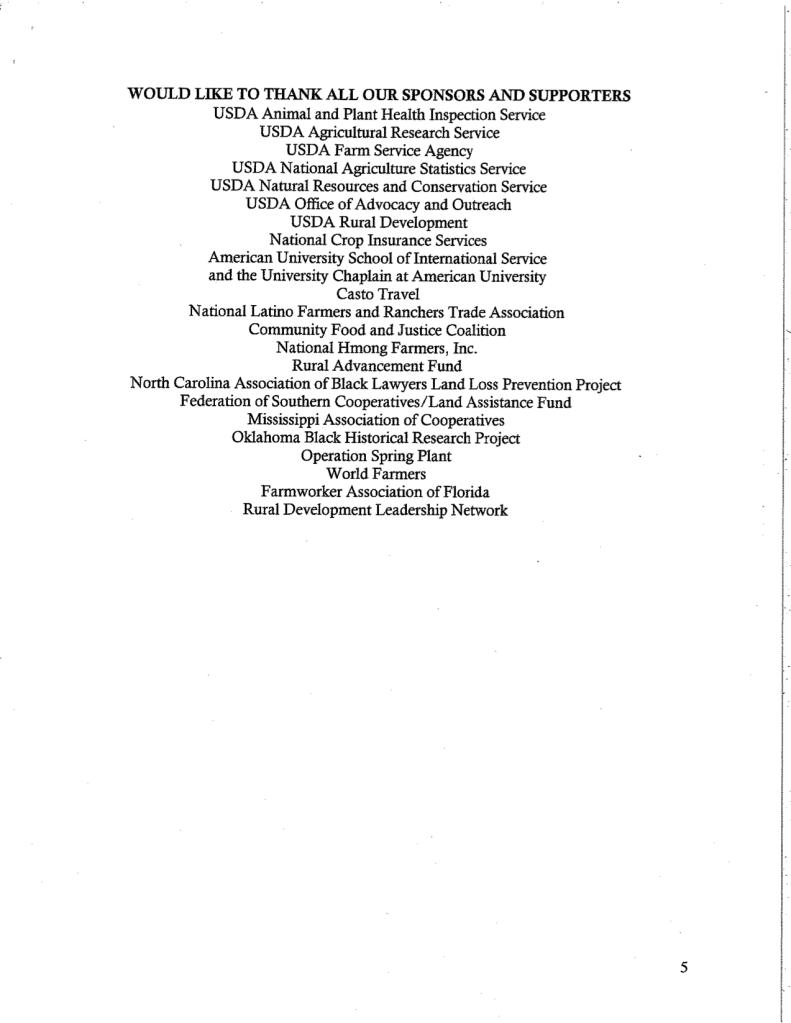 Rural Coalition Winter Forum Schedule