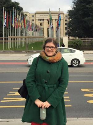 Picture of Kristine Smith at the United Nations Geneva Office.